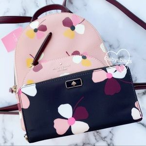 Gaby'sBags👜💕-Kate Spade Flower Backpack&Wallet